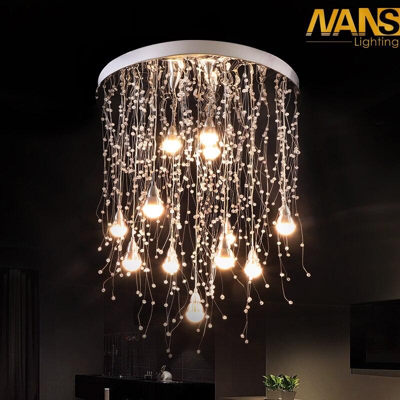 27 w ou 36 w Allée LED plafond lampe salon cristal corridor allées lumières LED Plafond Lumières Luces de techo plafond lampe