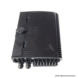 Image 2 - Boîtier de terminaison à fibers optiques 16 cœurs boîtier de distribution de fibers optiques 16 ports boîtier de répartiteur de boîtes à fibers optiques 2X16 cœurs FTTX noir