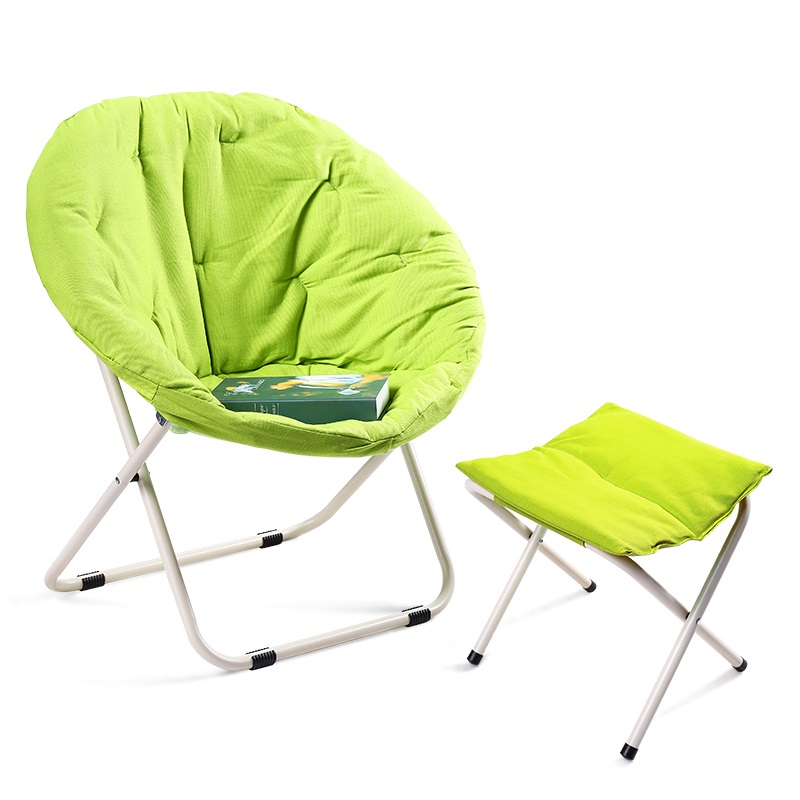 dormitory living room portable round balcony beach sofa indoor nap lazy leisure home furniture folding chair stool cadeira ljyafeng chair 360 degrees turning furniture for the living room of the lazy chair folding chair metal base functional sofa