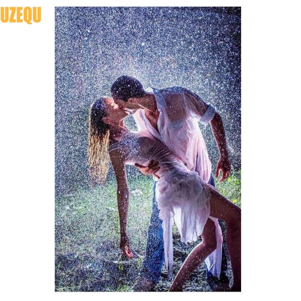 Вышивка поцелуй дождя
