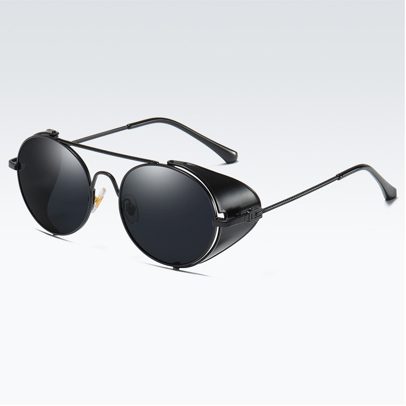 Outdoor polarized punk stlye men driving sunglasses new design film color lens men sunglasses