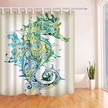 CHARM HOME Watercolor Sea Horse Polyester Fabric