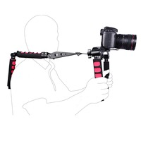 Foldable DSLR kits 5DII rigs video 5D2 camera slr dslr rig shoulder mount movie kit set cage handle stabilizer steadicam