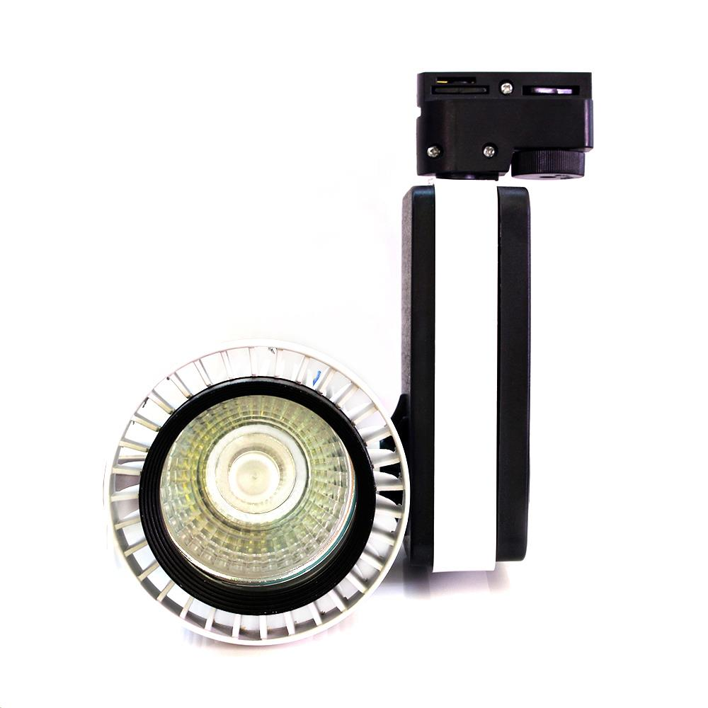 New led cob track 30w AC85-265V black add white body 30W COB Led Track Light, Spot Wall Lamp super bright