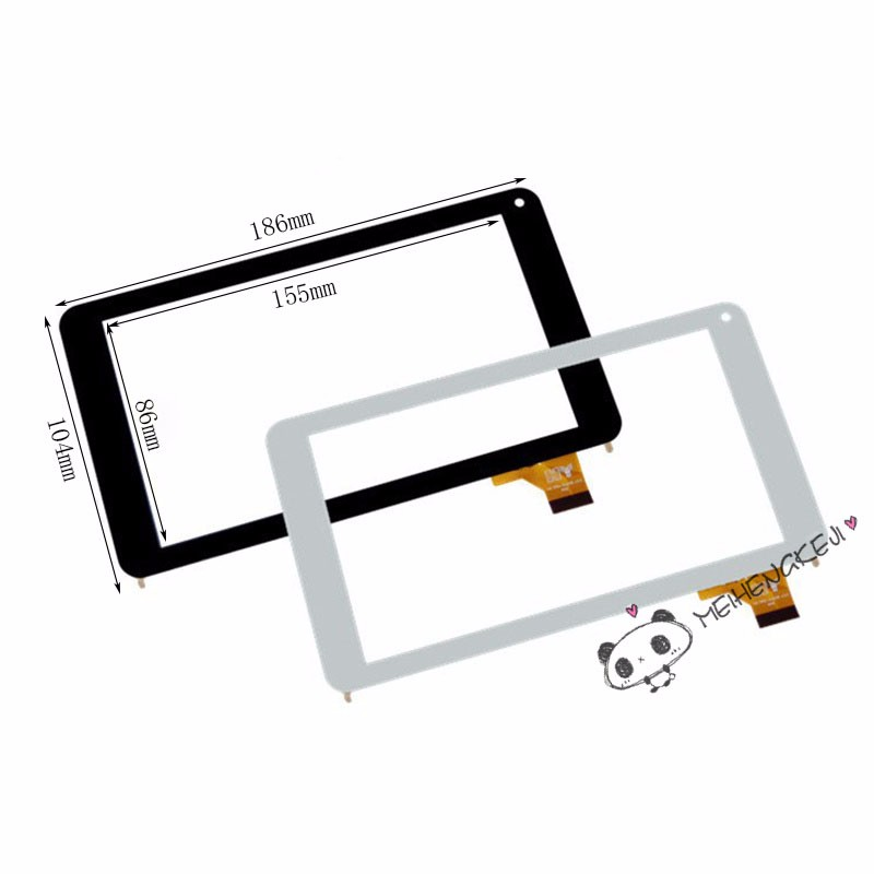 """7/"""" Touch Screen HS1275 V106pg Glass Panel Digitizer for Tablet PC MID Black"""