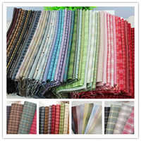 Hilo japonés teñido tela de algodón Patchwork monedero bolsa Quilting costura mechones artesanía aplique TELA DE COSER 24*34cm