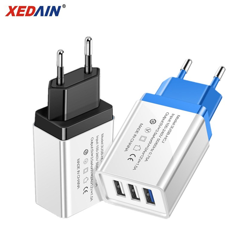 3 Ports USB Charger Fast Charging Wall Mobile Phone Chargers EU/US Charger For Iphone X Samsung Xiaomi Huawei USB Power Adapter
