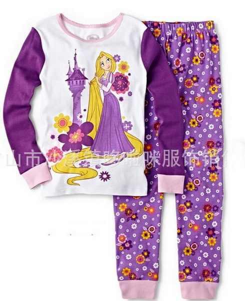 Trong Cô Gái cổ Trai Pyjama Trẻ Em Cotton Thường Dài Tay Áo Pajama Boy Animal Đồ Ngủ Trẻ Em Cartoon Quần Áo Ngủ Ngủ YW263