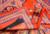 2015 Accesorios de Moda H Estilo Naranja Rojo Mantón de La Bufanda de Primavera Mujeres de la marca 100% Sarga De Seda Cuadrado Grande Bufanda de La Seda Natural 90*90 cm