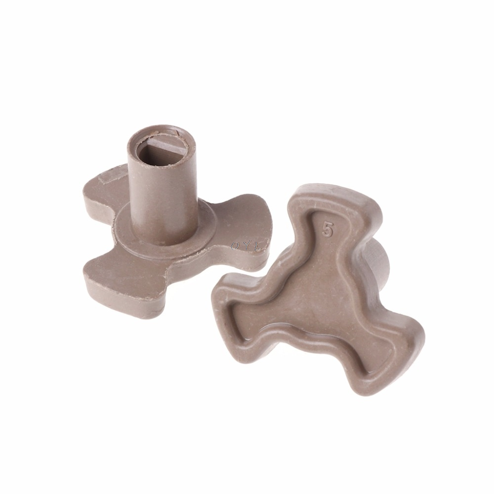 2Pcs 17mm Microwave Oven Turntable Roller Guide Support Coupler Tray Shaft