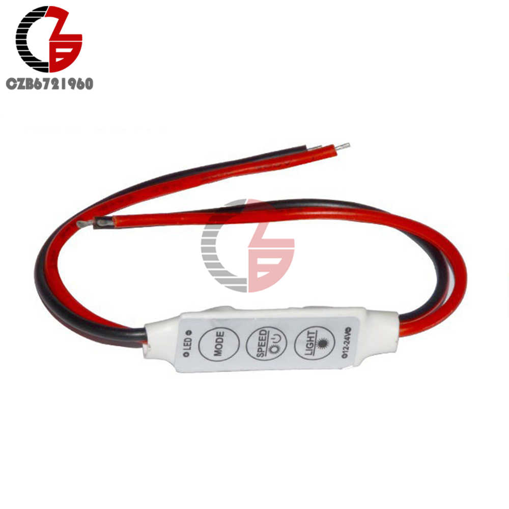 Mini 3 Keys For Single Color LED Brightness Dimmer Controller Switch For 3528 5050 5630 5730 3014 LED Strip Light 12V