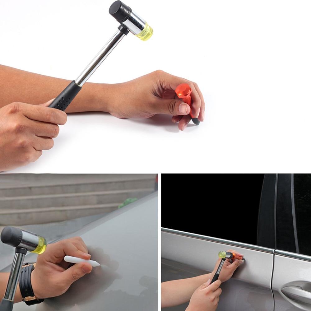 Car Dent Repair Car Body Repair Kit Dent Removal Dent Puller Kit Pulling Bridge Slide Hammer Glue Gun Hand Tools