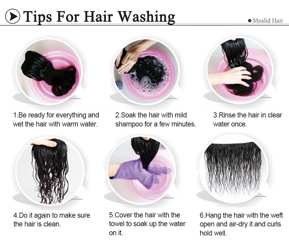 3washing hair