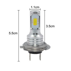 Image 2 - 1 pair 72W H7 led Car lights 3000lm CANBUS LED Bulb White 6000k led Car Headlight car lamp 12V 24V H7 headlamp car styling