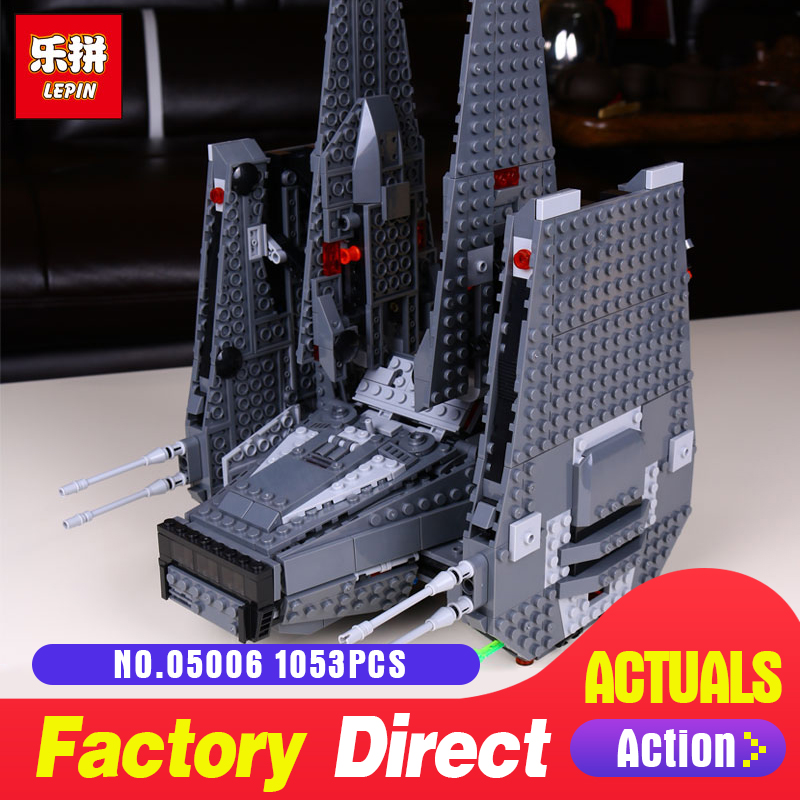 Star 1053Pcs Lepin 05006 Hot Sale Kylo Ren Command Shuttle LegoINGlys 75104 Blocks Kid's Toys compatible Toys for Holiday Wars