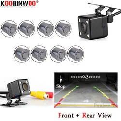 Koorinwoo двухъядерный процессор автомобильный парковочный датчик 8 Redar Автомобильная фронтальная камера заднего вида камера парктроник