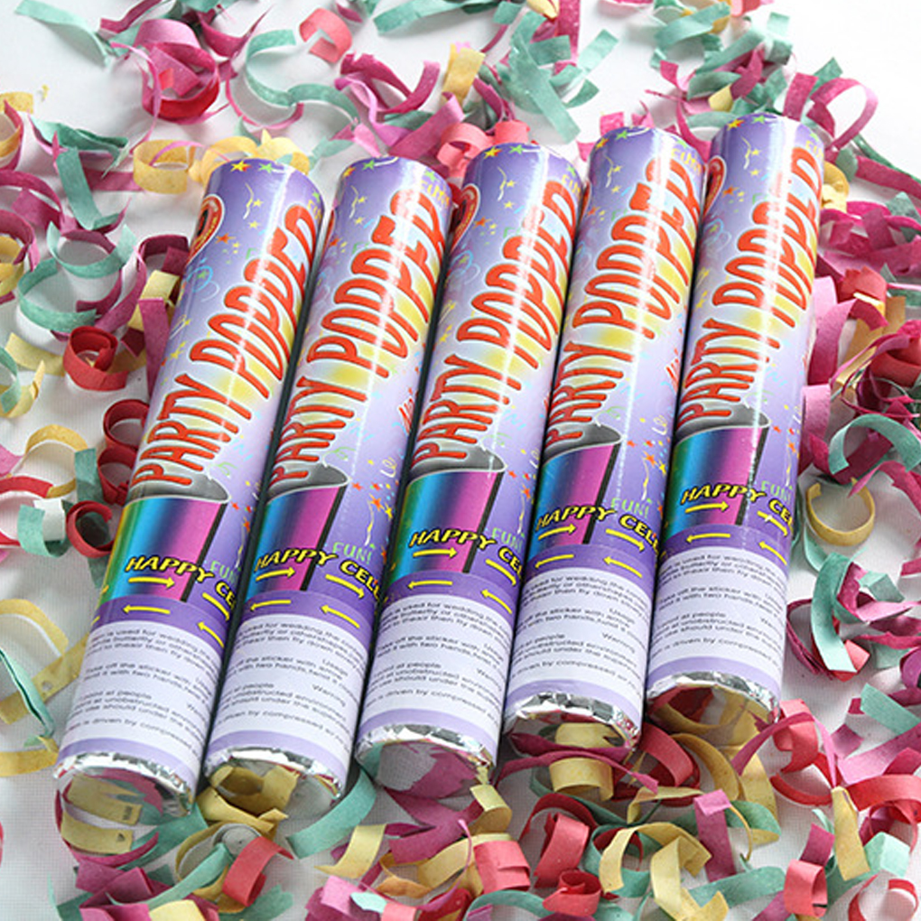 28cm Confetti Party Poppers Twist Confetti Poppers For Kids Birthday Wedding BBQ Camping