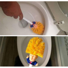 Дропшиппинг Забавный Дональд Трамп туалетная щетка два стиля Симпатичные кисти пластик Новинка товары для дома подарок для вашей семьи