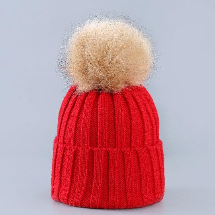 c8d662b1a Hot Sale] Cute Winter Mom Women Baby Kids Crochet Knitted Hat Caps ...