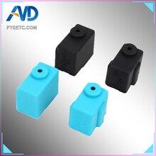 Volkan Silikon Çorap Siyah Mavi Volkan Isıtmalı Blok J-kafa Hotend Bowden/Doğrudan Ekstruder Blok Kapak 3D Yazıcı bölüm