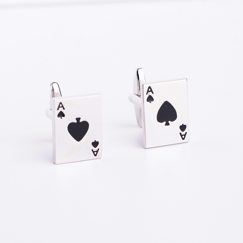 Free Shipping Men Cuff Links Gamble Casino Series Poker Design Fashion Cufflinks and Tie Clips Wholesale&retail(China)
