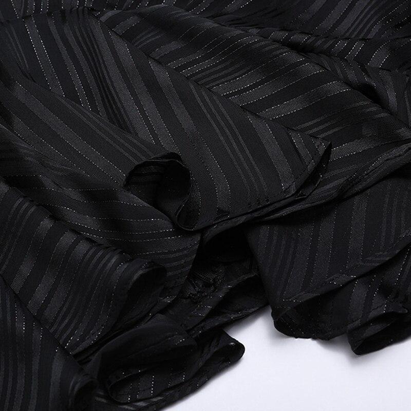Automne Chemise Brillante Nova Chemisier black 2018 Piste Befree Concepteur Rayé Vêtements Beige Chauve Femmes Écharpes Lâche Mode Soie Manches En Moda souris q6a8w8