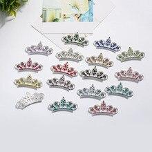 Free shipping 56*30mm flatback rhinestone tiara crown embellishment 100PCS (BTN-5420)