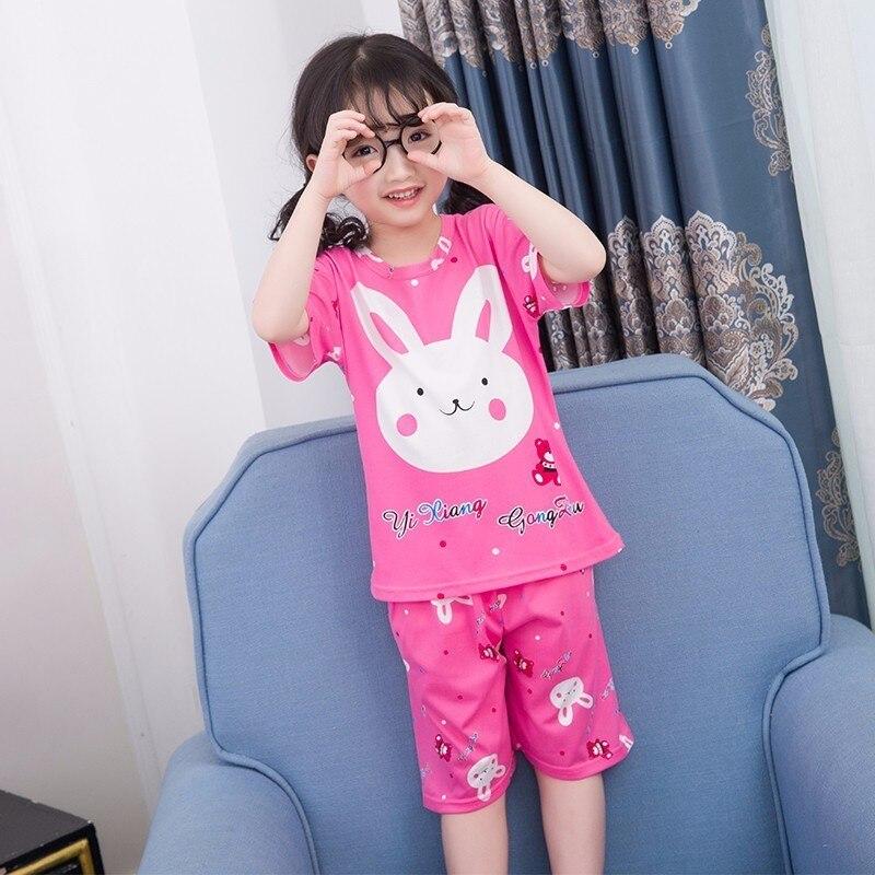 Wholesale 2018 WAVMITChildren Pajamas Set Kids Baby Girl Cartoon Casual Clothing Short Sleeve Boys Sleepwear Summer Home Clothes