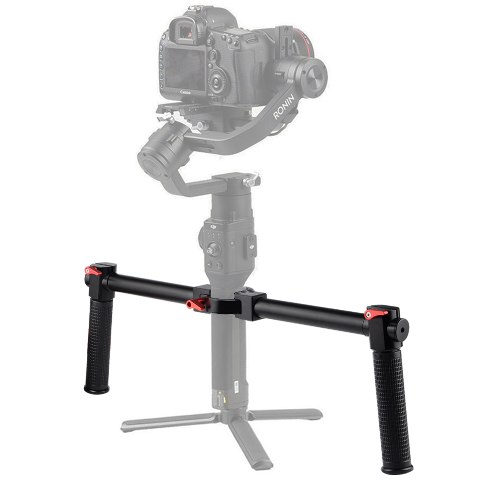 Dual Handle Grip Handheld Bracket Handlebar Kit For DJI Ronin S Gimbal Stabilizer Hand Grip Extension Stand Mount Accessories