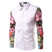 Zogaa 2019 Hot Sale Spring Autumn Features Shirts Men Casual Jeans Shirt Long Sleeve Fashion Slim Printing