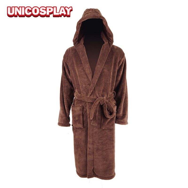 Star Wars Bathrobe Sleep Spa Robes Brown Pajamas Coral Fleece flannel Gown home Dressing for Woman Man