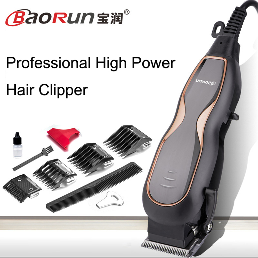 BaoRun Professional Mute Large Power Electric Hair Clippers Family Hair Trimmer Hair Cutting Machine with wire professional welding wire feeder 24v wire feed assembly 0 8 1 0mm 03 04 detault wire feeder mig mag welding machine ssj 18