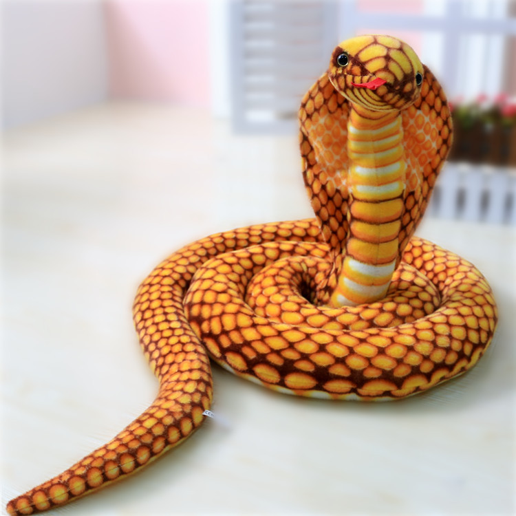 все цены на simulation animal lifelike cobra snake all length about 220cm plush toy Photography props,funny toy gift b4925