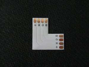10 шт./лот 4-контактный светодиодный разъем l-образной формы для 10 мм 3528 5050 Светодиодная лента RGB одного цвета
