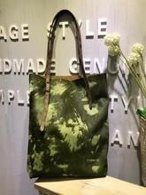 Vendange retro female concise vertical type handmade leather shoulder bag/ handbag 2112