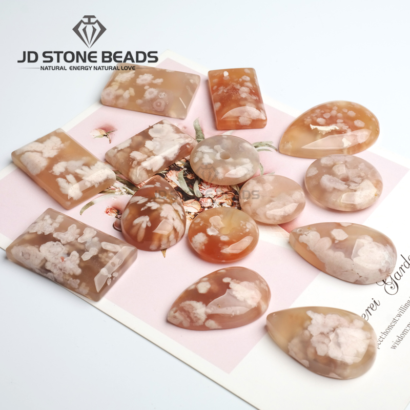 Free Shipping Cherry Blossom Agate Pendants Japanese Best Selling Pendants Necklace Accessories For Woman