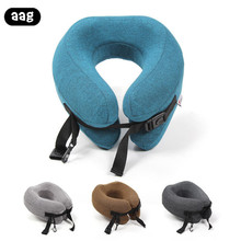 AAG Travel Neck pillow Cushion Portable Airplane home office Headrest Memory Foam Nap Sleep support Massage pillows