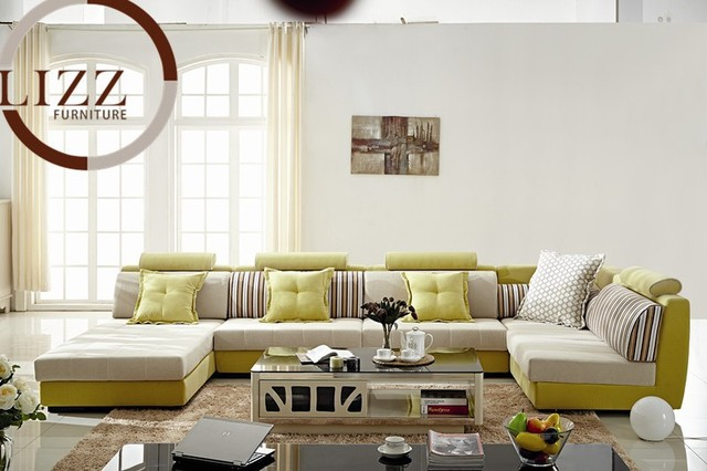 Canada L Shape Sectional Fabric Sofa B1038 # Living Room L Shaped Fabric  Corner Modern Fabric
