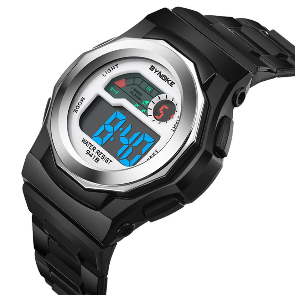 Sports Kids Boys Girls Digital Electronic Movement Glow In The Dark Wrist Watch
