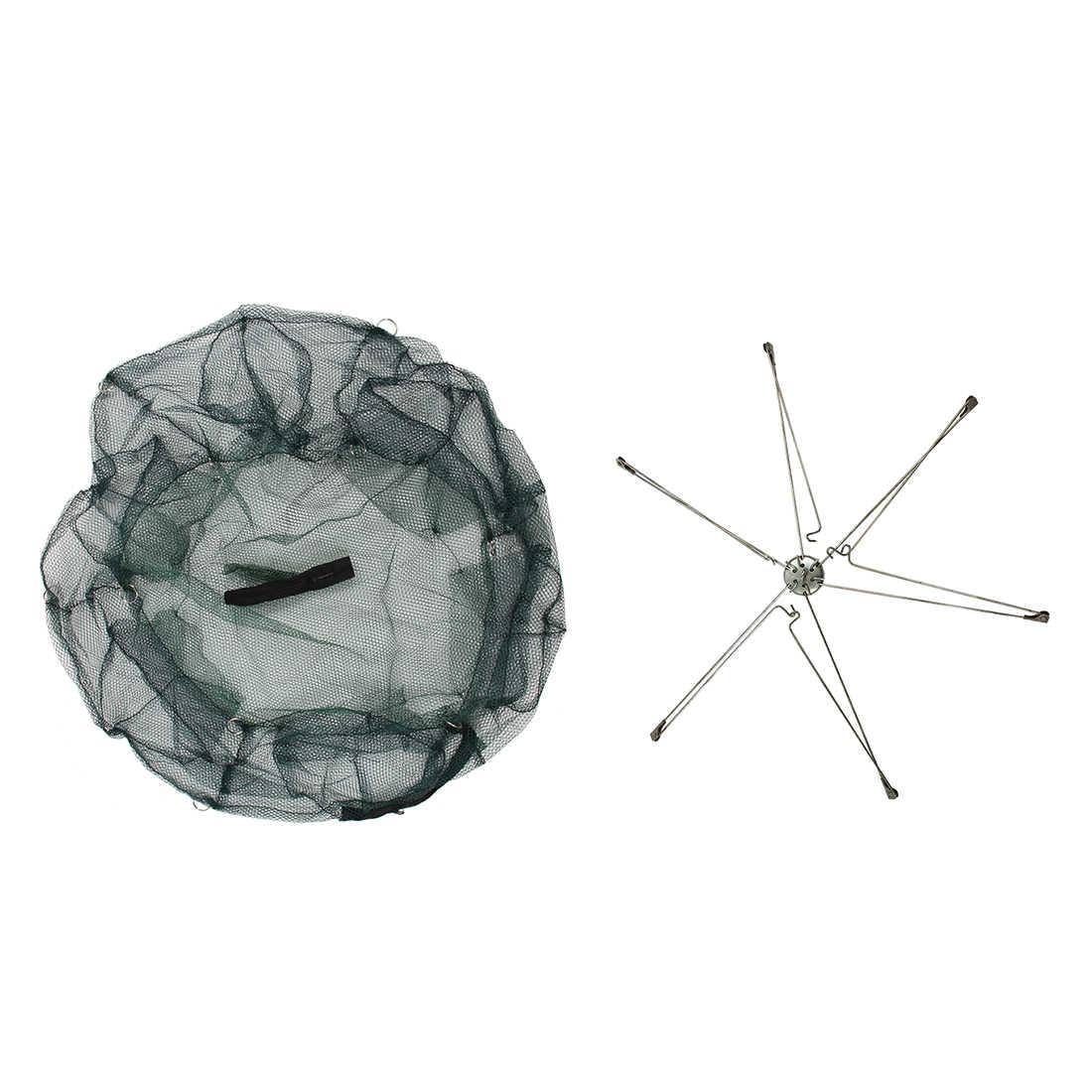 Gaiola rede de pesca de solha peixe lagosta camarão cesta de reposição 6 furos