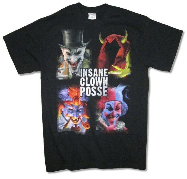 insane clown posse blocks portraits juggalo black t shirt new