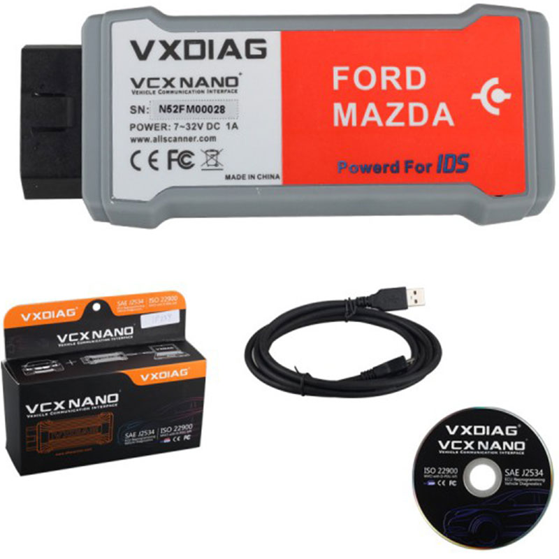 2017 Top Rated VXDIAG VCX NANO  2 in 1  IDS V98  Better Than VCM II  Perfect Replacement  for VCM 2 Car Diagnostic-Tool