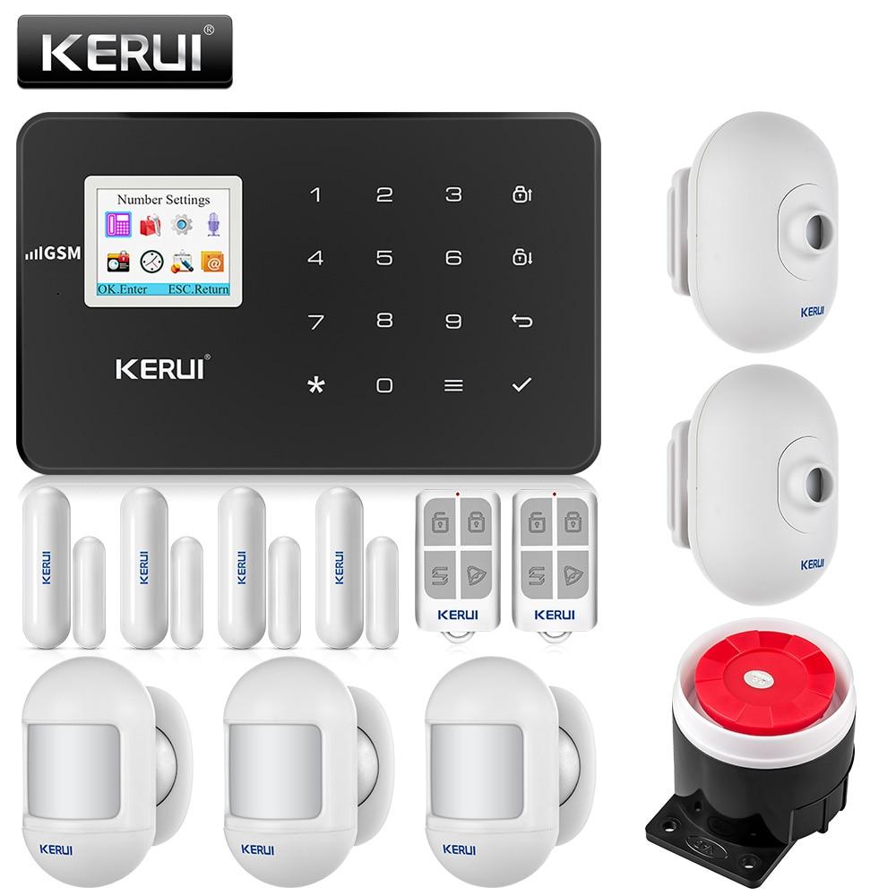 KERUI G18 Беспроводной GSM дома охранной сигнализации Системы сигнализация от грабителей Android IOS Телефон Управление с наружный детектор движения
