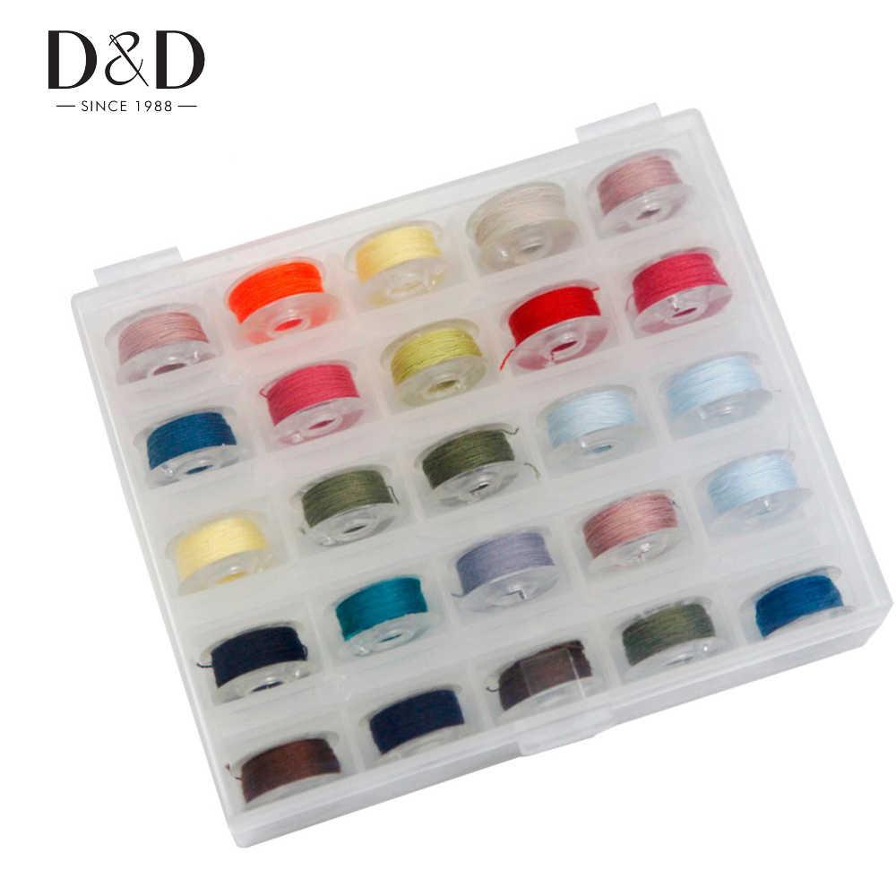 SUPVOX 25 UNIDS caja de bobina de la bobina de costura hilo de coser colorido pl/ástico transparente caja de almacenamiento