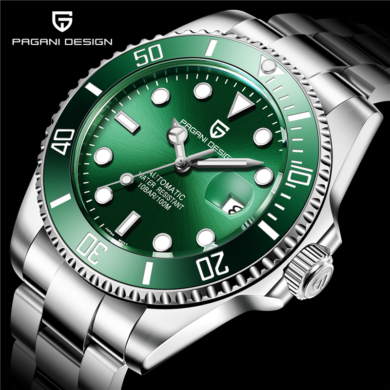 Pagani design marca de luxo relógios masculinos negócios esporte à prova dwaterproof água automática mecânica safira relógio pulso relogio masculino 2019