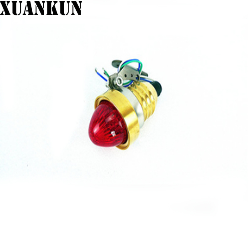 цена XUANKUN Motorcycle Parts Brass Aluminum LED Rear Brake Rear Lights