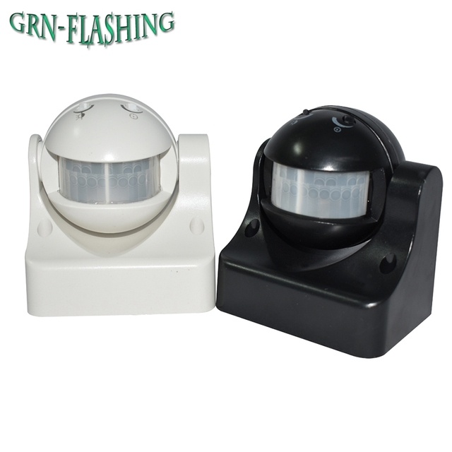 Sensore di movimento Interruttore Della Luce AC 220 V Dell'interno Esterno Automatico A Raggi Infrarossi PIR Interruttore del Sensore di Movimento per la Luce del LED lampada