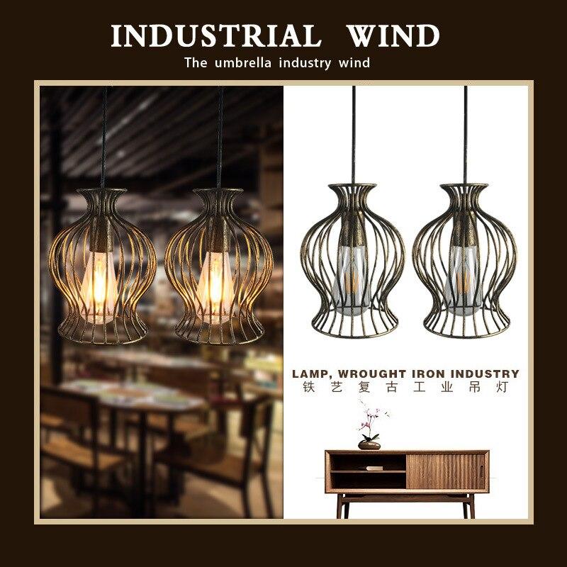 Antique American metal iron imitation lantern Coffee House tea building industry wind balcony decoration chandelier