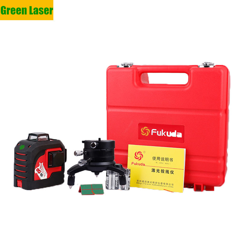 XEAST XE 13A Green 3D Laser Level Meter 12 Lines 360 Degree Vertical Cross Super Powerful