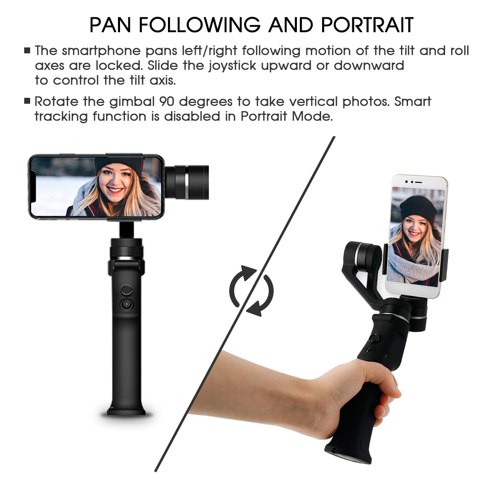 Image 2 - SAMTIAN Smooth 3 Axis Handheld Smartphone Gimbal Stabilizer For Phone XS XR X 7 8 Plus Samsung S7 8 9 Photo Video Recording-in Handheld Gimbal from Consumer Electronics